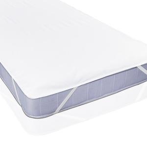Lumaland wasserdichte Matratzenauflage aus Flanell - 60 x 120 cm - für Kinderbett - Matratzenschutz Matratzenschoner Matratzenbezug Betteinlage - Anti-allergisch, gegen Milben, wasserdicht - Weiß