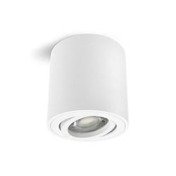 linovum LED Aufbaustrahler Aufbaustrahler CORI in matt weiß & schwenkbar mit LED GU10 3W warmweiß Leuchtmittel 230V
