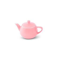 Friesland Porzellan Teekanne Friesland Teekanne 0,35l Pastellrosa Utah Teapot P, Made in Germany