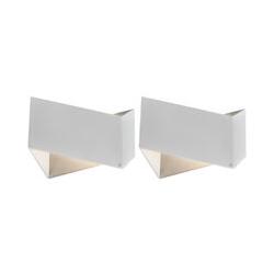 2er Set Design Wandleuchten weiß - Fold