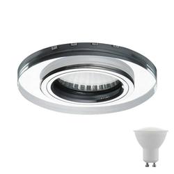 etc-shop LED Einbaustrahler, Einbau Strahler Glas Decken Lampe Wohn Zimmer Beleuchtung grün im Set inkl. LED Leuchtmittel