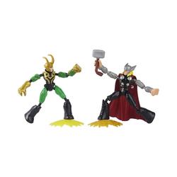 Hasbro Actionfigur Marvel Avengers Bend and Flex Thor gegen Loki