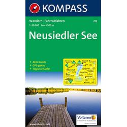 KOMPASS Wanderkarte Neusiedler See 1:50 000