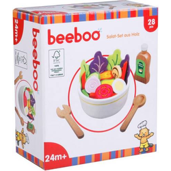 BEK Salat-Set aus Holz, 28 Teile