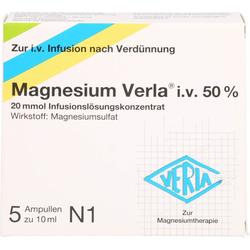 MAGNESIUM VERLA i.v. 50% Infus.-Lsg. 5 St.