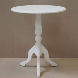Casa Padrino Barock Beistelltisch Mahagoni Holz Weiß Antik Stil 60 x 60 x H70 cm - Jugendstil Tisch