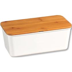 KESPER for kitchen & home Brotkasten, (1 tlg.), mit Deckel als Schneidbrett weiß Aufbewahrung Küchenhelfer Haushaltswaren Lebensmittelaufbewahrungsbehälter