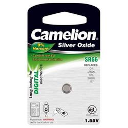 Camelion Batterie für Uhren,Taschenrechner SR66/SR66W/G4/LR626/377/177/SR626 1er Blister, 1,55V, Silberoxid
