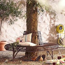 Schneider Bank Baum halbrund braun Gartenbänke Gartenmöbel Gartendeko Sitzbänke