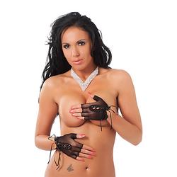 Rimba Fingerfreie Netz-Handschuhe