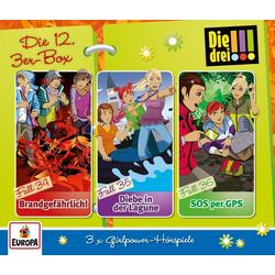 Die drei !!! - Die 12. 3er-Box (Folgen 34-36) als Hörbuch CD von Die drei !!!