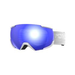 Marker - 16:10+ Snowwhite W/Blue Hd Mirror - Skibrillen