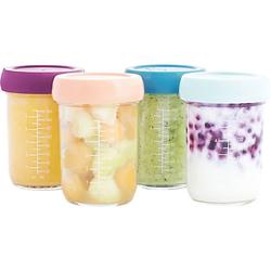 Babybols aus Glas, 240 ml, 4er-Set bunt