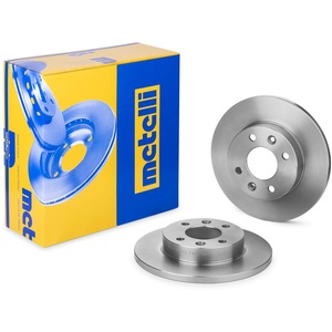 metelligroup 23-0082 Bremsscheiben, Kit bestehend aus 2 Bremsscheiben, Ersatzteil im Auto, ECE R90-zertifiziert