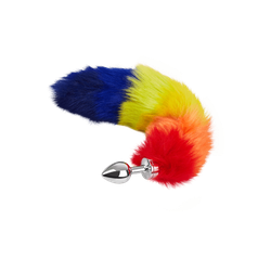 Rimba 'Buttplug Small with Rainbow Tail', 37 cm