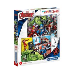 Clementoni® Puzzle Puzzle 2x60 Teile - The Avengers, Puzzleteile