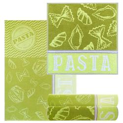 Lashuma Handtuch Set Pasta (4-tlg), Geschirrtücher 2x 50x70, saugstarke Küchentücher 2x 50x50
