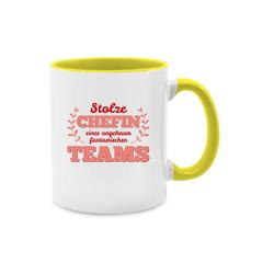 Shirtracer Tasse Stolze Chefin eines ungeheuer fantastischen Teams - Sonstige Berufe - Tasse zweifarbig - Tassen, chefin tasse team
