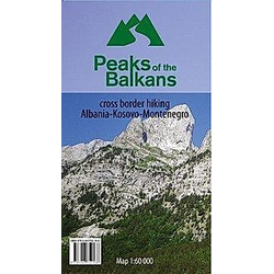 Peaks of the Balkans 1:60000. Peak of the Balkans  - Buch
