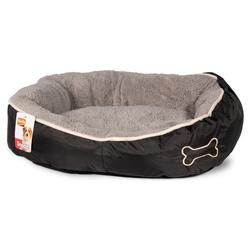 Karlie Hundekorb Chipz rund grau, Maße: 63 x 60 x 20 cm