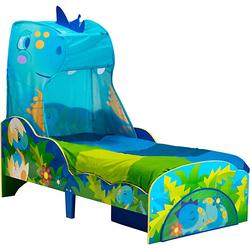 Kinderbett de Luxe Dino, mit Zeltdach, 70 x 140 cm