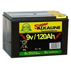 Weidezaunbatterie »Super« Batterien Alkalisch · 9v 120Ah