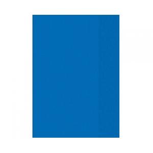 Heftumschlag A4, transparent, blau, PP
