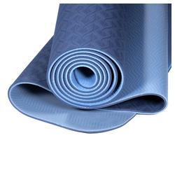 yogabox Yogamatte TPE 2-farbig blau
