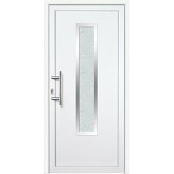 KM Zaun Haustür K729P LS, BxH: 98x208 cm, weiß, links