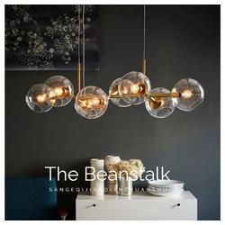 ZMH LED Pendelleuchte Glas Kugel Leuchte Pendellampe Hängellampe LED 61 cm x 27.4 cm