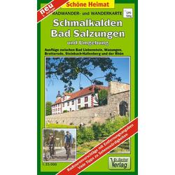 Schmalkalden Bad Salzungen und Umgebung 1 : 35 000 Radwander- und Wanderkarte
