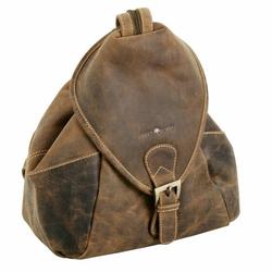 Greenburry Vintage Rucksack Leder 28 cm sattelbraun