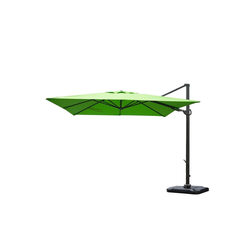MCW Sonnenschirm MCW-A39, LxB: 300x300 cm, Schwenkbar, Inkl. Schutzhülle, Inklusive Fußkreuz grün
