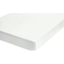 Betttuch Lian, Biberna, wärmender Feinbiber weiß 150 cm x 250 cm