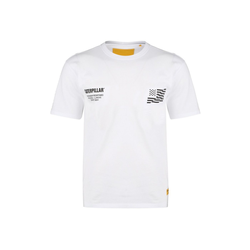 CATERPILLAR T-Shirt Caterpillar B-W Flag weiß S