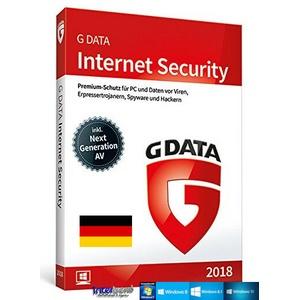 G Data Internet Security 2018 Vollversion 1 PC + Handbuch (PDF) Download NEU