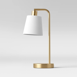 Shaded Arc Table Lamp Brass - Project 62