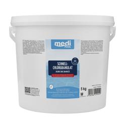 mediPOOL Schnell-Chlorgranulat, Granulat zur sofortigen Anhebung des Chlorgehalts, 5 kg - Eimer