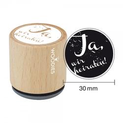 Woodies Stempel - Ja, wir heiraten W03002