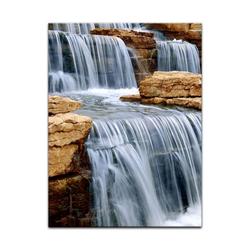 Bilderdepot24 Leinwandbild, Leinwandbild - Wasserfall I 30 cm x 40 cm