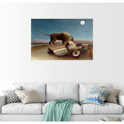 Posterlounge Wandbild, Die schlafende Zigeunerin 91 cm x 61 cm