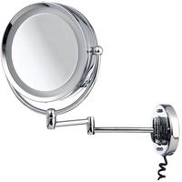 Möve LED-Lichtspiegel Spiegel mit Schwenkarm (1-St), mit 5-fach Vergrößerung, Edelstahl