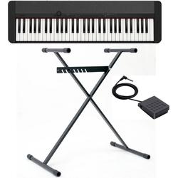 CASIO Keyboard Piano-Keyboard-Set CT-S1BKSET, (Set, inkl. Keyboardständer, Sustainpedal und Netzteil), ideal für Piano-Einsteiger und Klanggourmets;