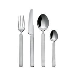 Alessi Besteck-Set Besteckset DRY 24tlg, Silber poliert mit mattem Griff