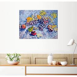 Posterlounge Wandbild, Trauben, Zitronen, Birnen und Äpfel 90 cm x 70 cm