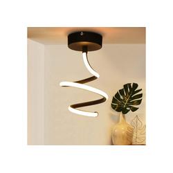ZMH Deckenleuchte LED Deckenlampe aus Metall in Schwarz 14W, Innen Deckenleuchte warmweiß