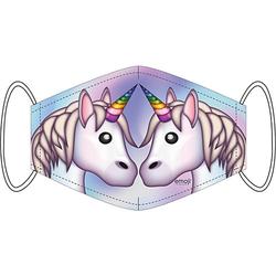 Mund-Nasen-Maske Emoji Einhörner, 2er Pack bunt