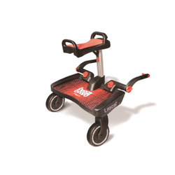 Lascal Buggy Board Maxi + mit Sitz rot