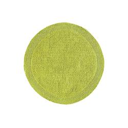 Badteppich , wendbar grün ca. 50/80 cm, halbrund