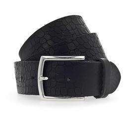 b.belt Gürtel Leder schwarz 110 cm